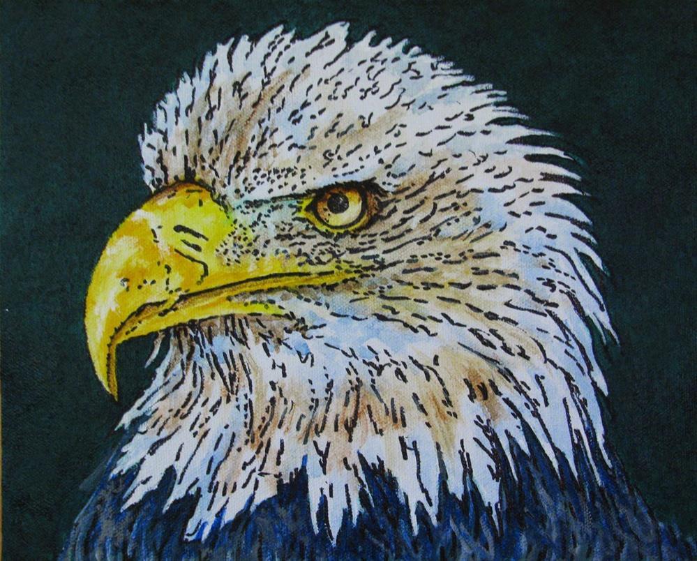 """Bald Eagle"" original fine art by Nan Johnson"