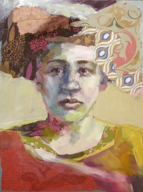 """""""Golden Shoulder"""" original fine art by Katie Wilson"""