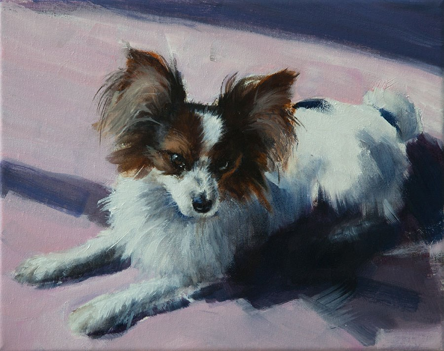 """PAINT MY DOG - Bentu"" original fine art by Clair Hartmann"