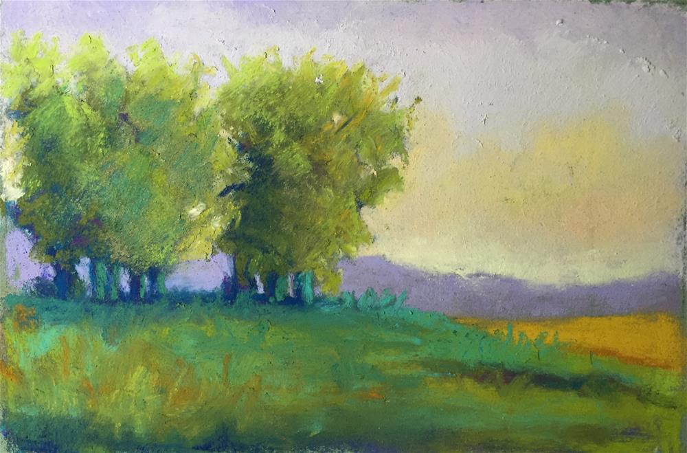 """Sunset Trees #3"" original fine art by Sandi Miller"
