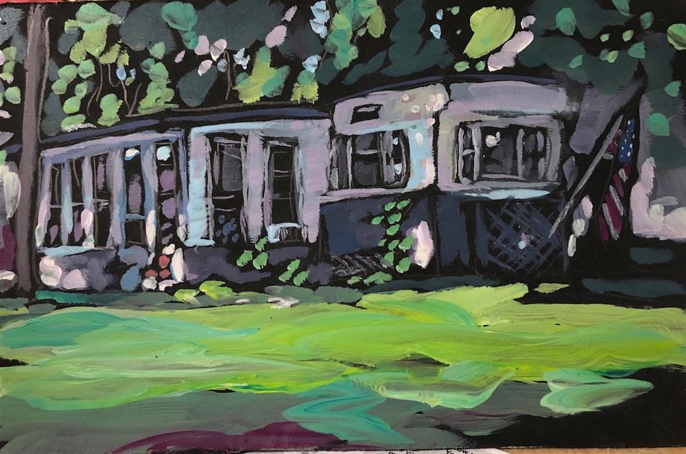 """Terri's Cabin"" original fine art by Kat Corrigan"