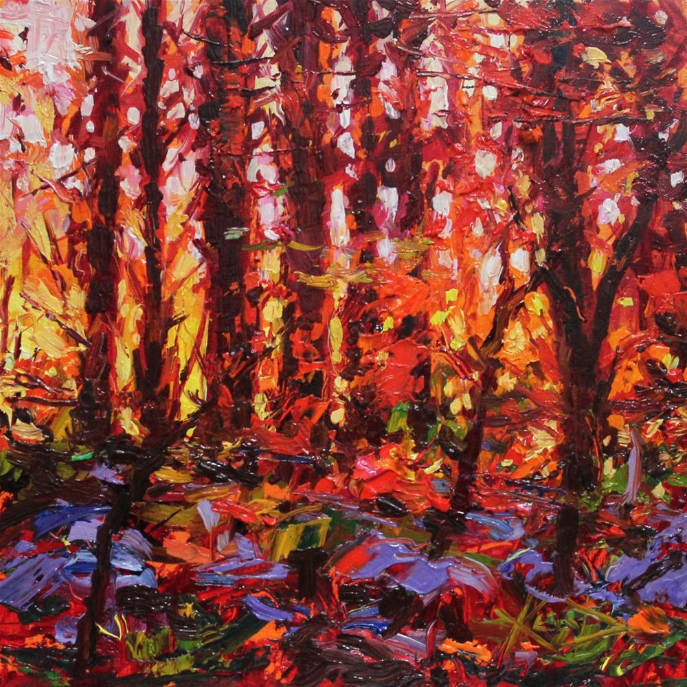 """Undergrowth"" original fine art by Ken Devine"