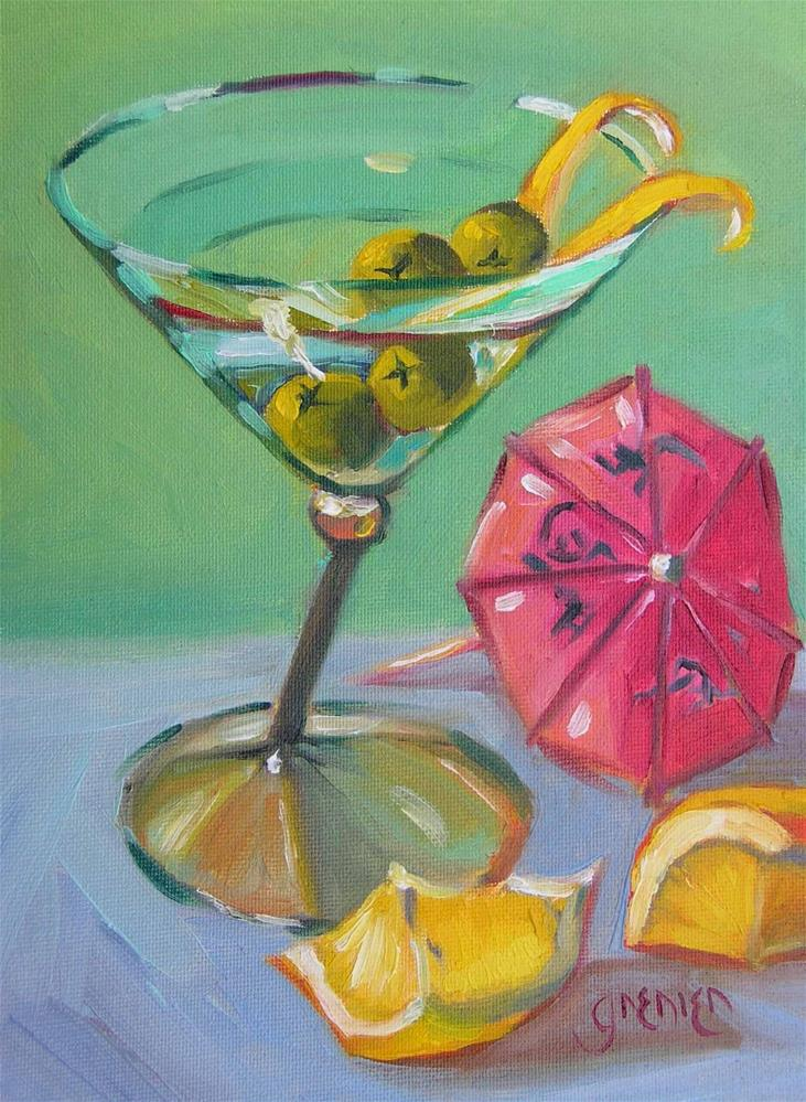 """Olive and a Twist"" original fine art by jean grenier"