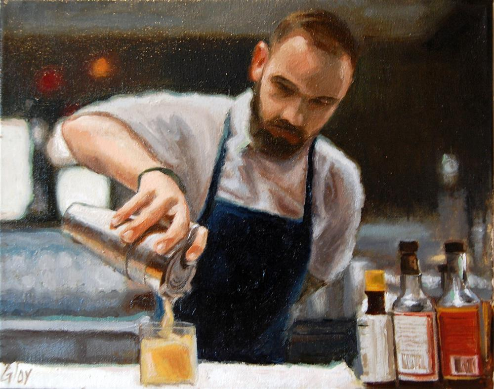 """Pour"" original fine art by jeff gloy"