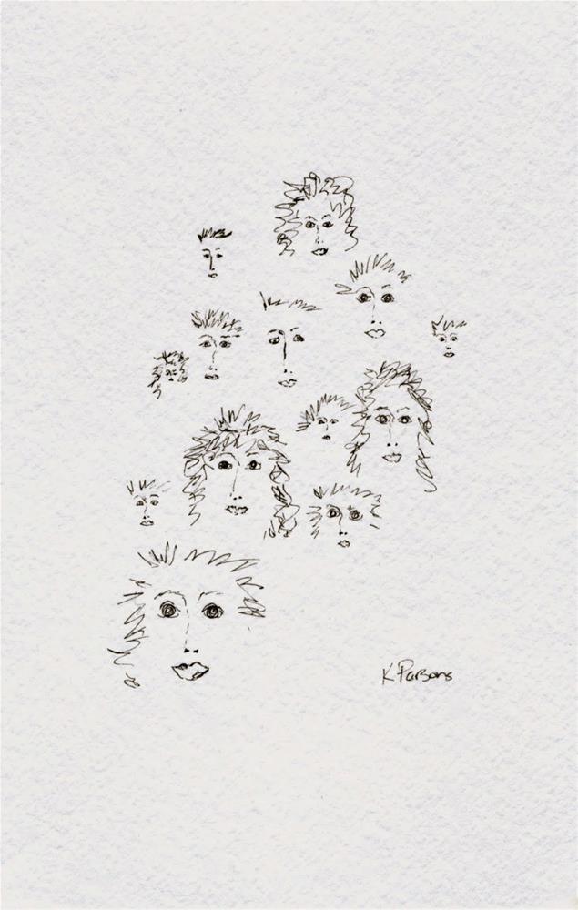 """The Crowd"" original fine art by Kali Parsons"