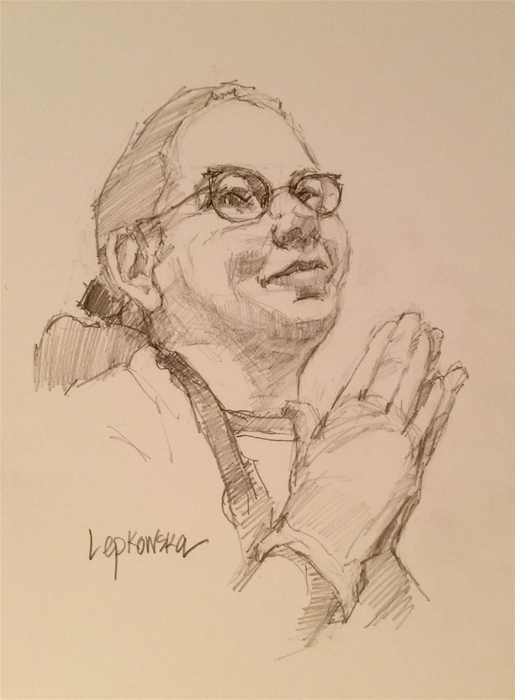 """Praying to the Art Gods"" original fine art by Laurie Johnson Lepkowska"