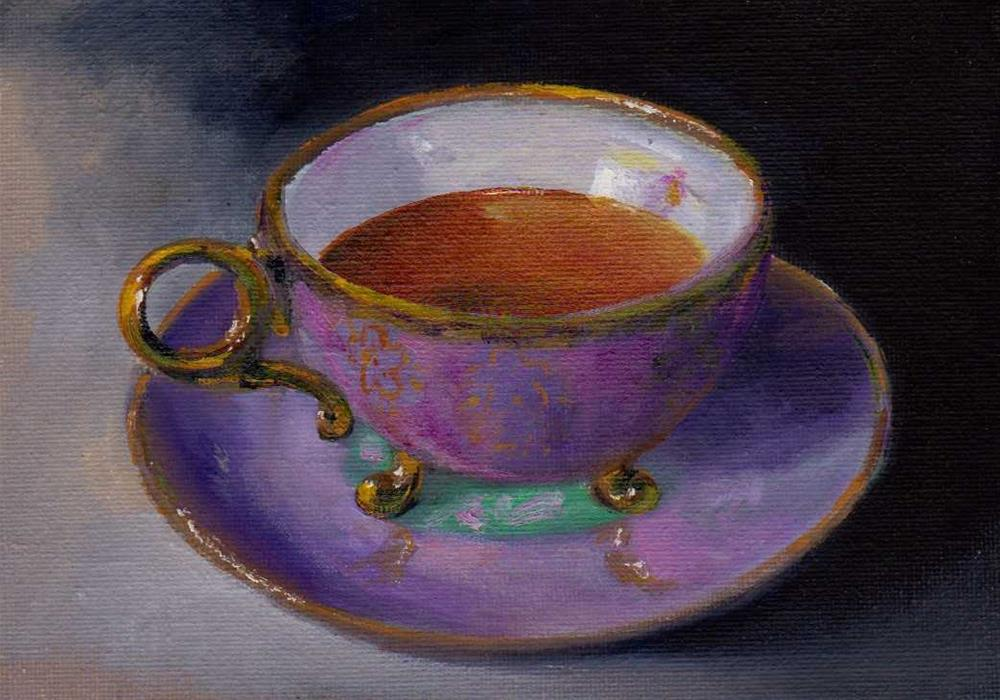 """cup of tea"" original fine art by Mark DeBak"