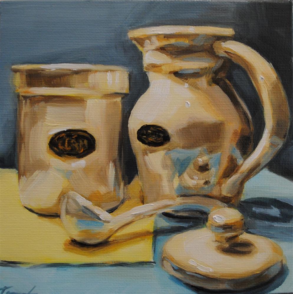 """Crockery"" original fine art by Tamanda Elia"