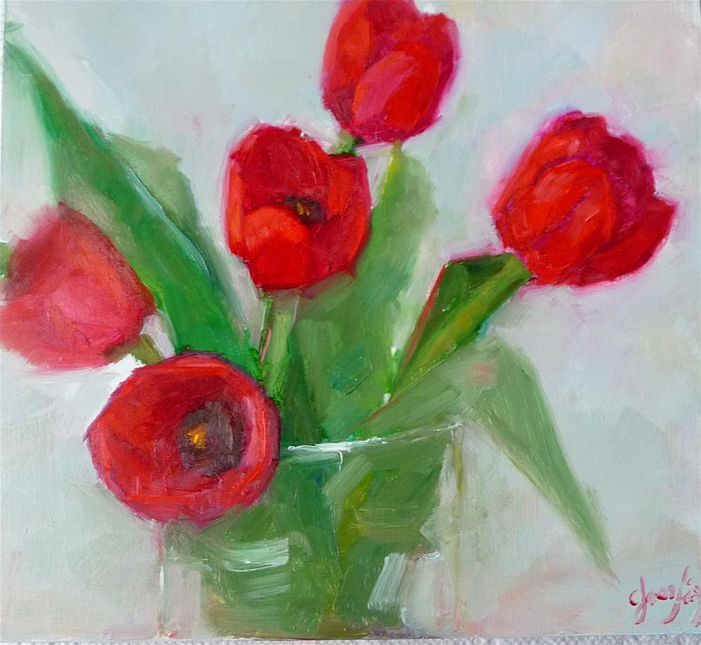 """Valentine Hearts"" original fine art by Carol Josefiak"