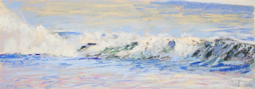 """""""Shore Waves #11"""" original fine art by Toby Reid"""