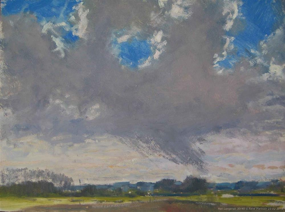 """It didn't stay dry, ..."" original fine art by René PleinAir"