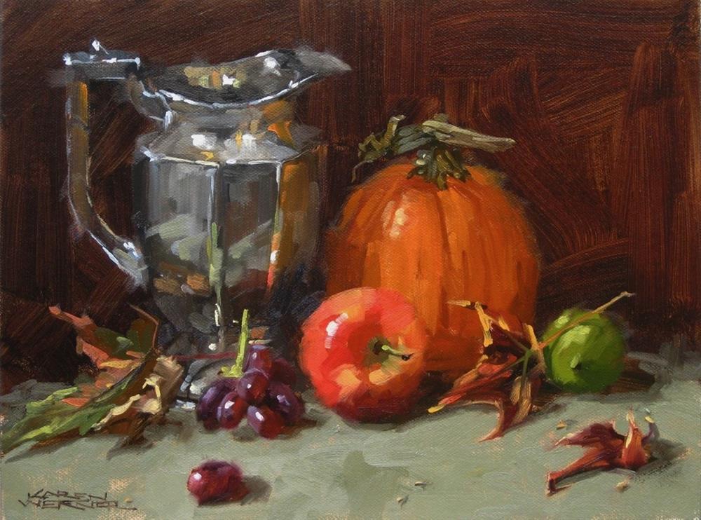 """""""Fall Still Life"""" original fine art by Karen Werner"""