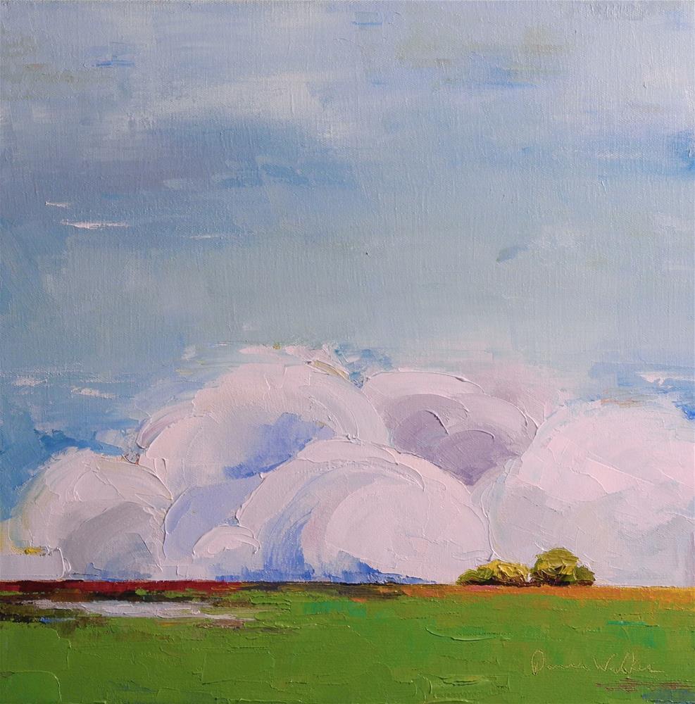 """""""Monumental Clouds V"""" original fine art by Donna Walker"""