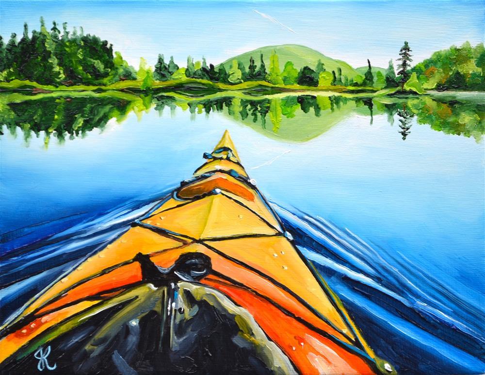 """View from a Kayak"" original fine art by Jacinthe Rivard"