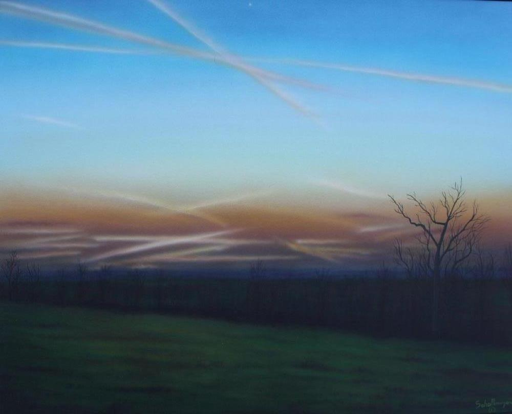 """Sunset Looking West"" original fine art by Fred Schollmeyer"