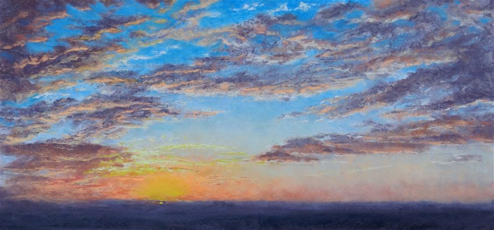"""Sunset"" original fine art by Denise Beard"
