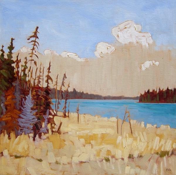"""McPhee From Highway 264"" original fine art by Nicki Ault"