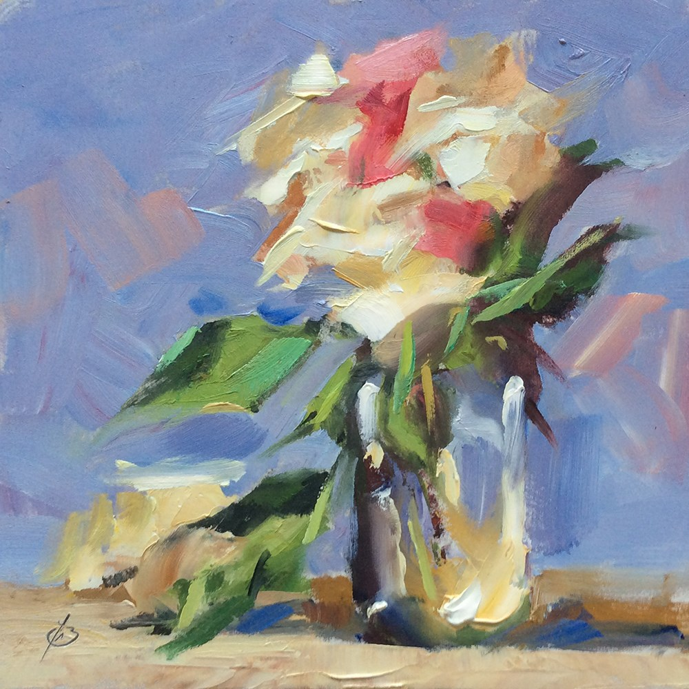 """FLORAL STILL LIFE"" original fine art by Tom Brown"