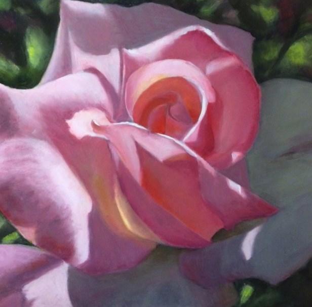 """Rose Sweet Rose- A Different Approach"" original fine art by Pat Fiorello"