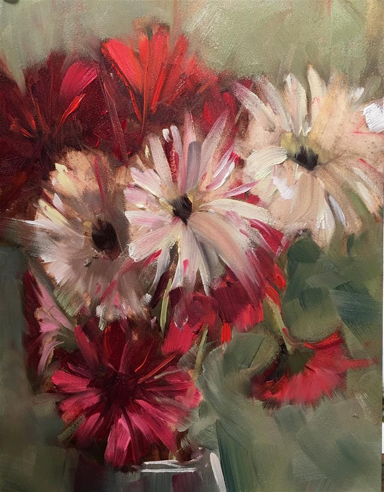 """#299 March Bouquet"" original fine art by Patty Voje"