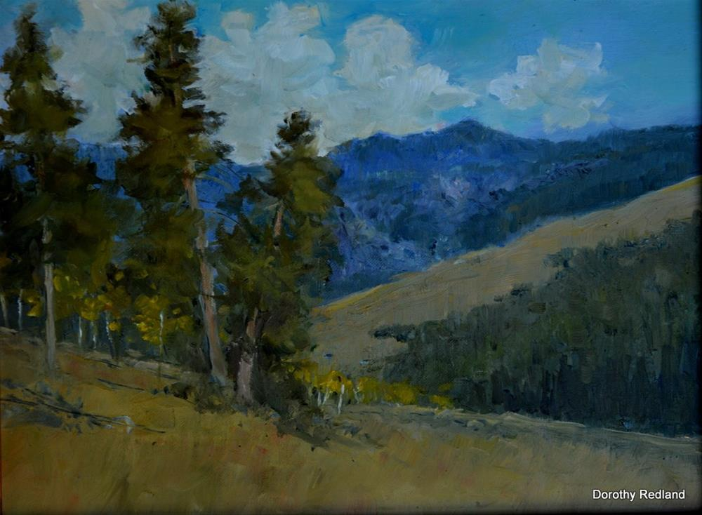 """above the Red grade"" original fine art by Dorothy Redland"