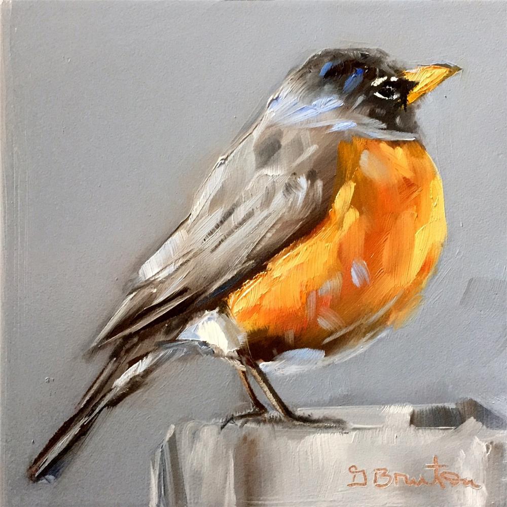 """American Robin"" original fine art by Gary Bruton"
