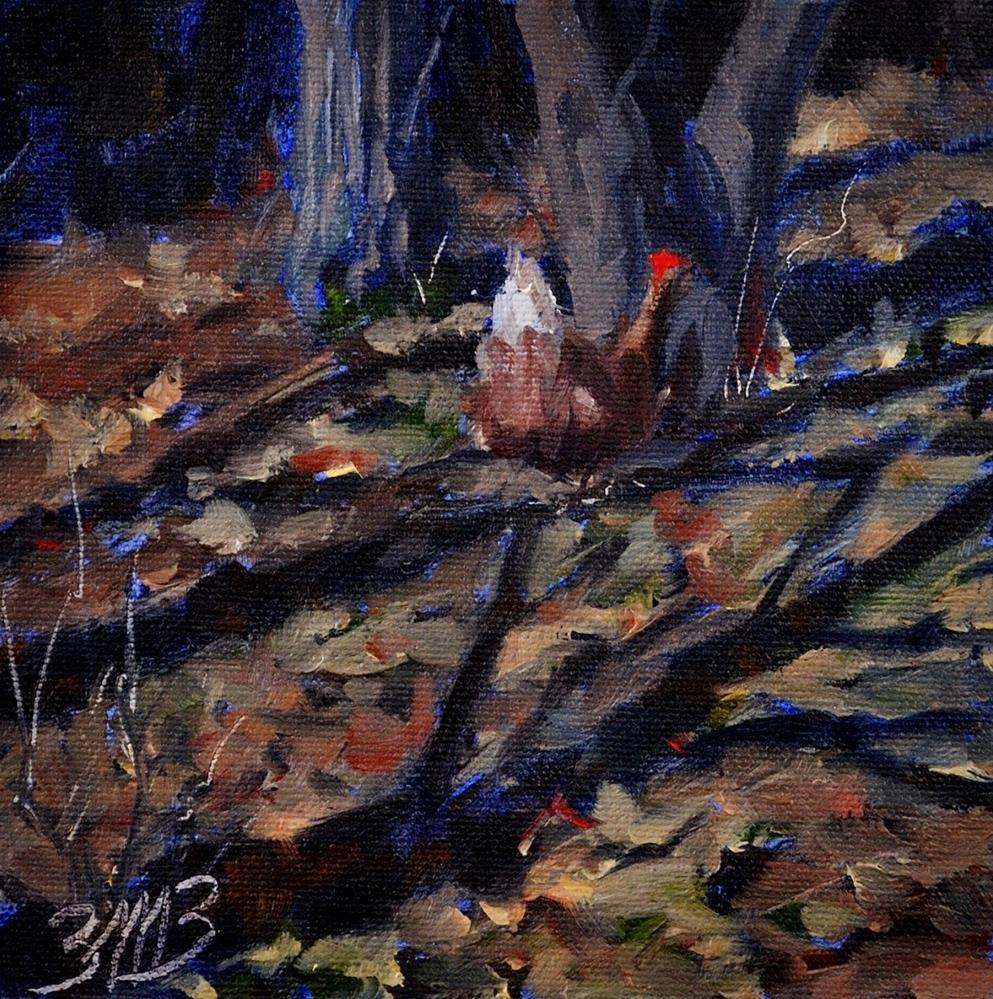 """""""Among the Leaves"""" original fine art by Brienne M Brown"""