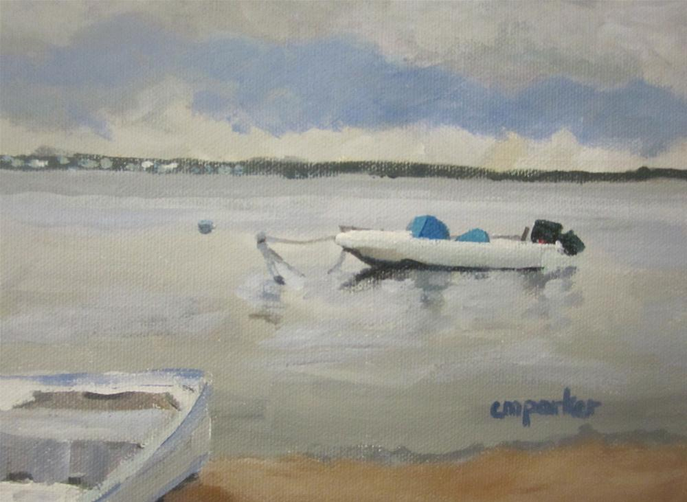 """Boats,Barnegat Bay"" original fine art by Christine Parker"