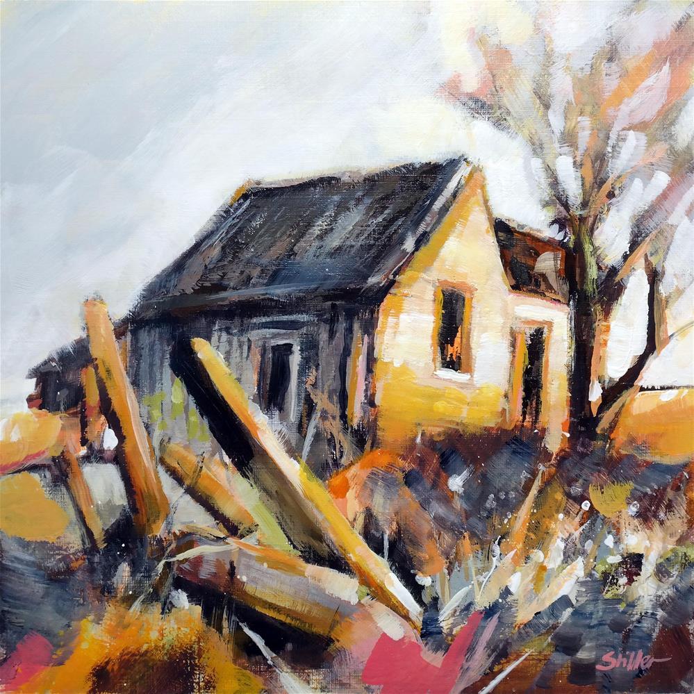 """""""3638 Abandoned Farm"""" original fine art by Dietmar Stiller"""