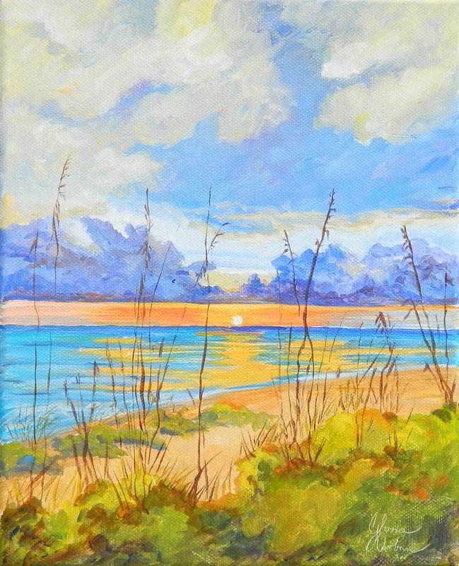 """Sea Grass"" original fine art by Gloria Urban"
