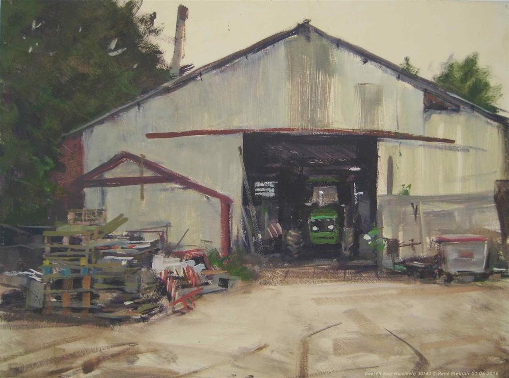 """""""Farmers clutter. Hummelo, The Netherlands"""" original fine art by René PleinAir"""