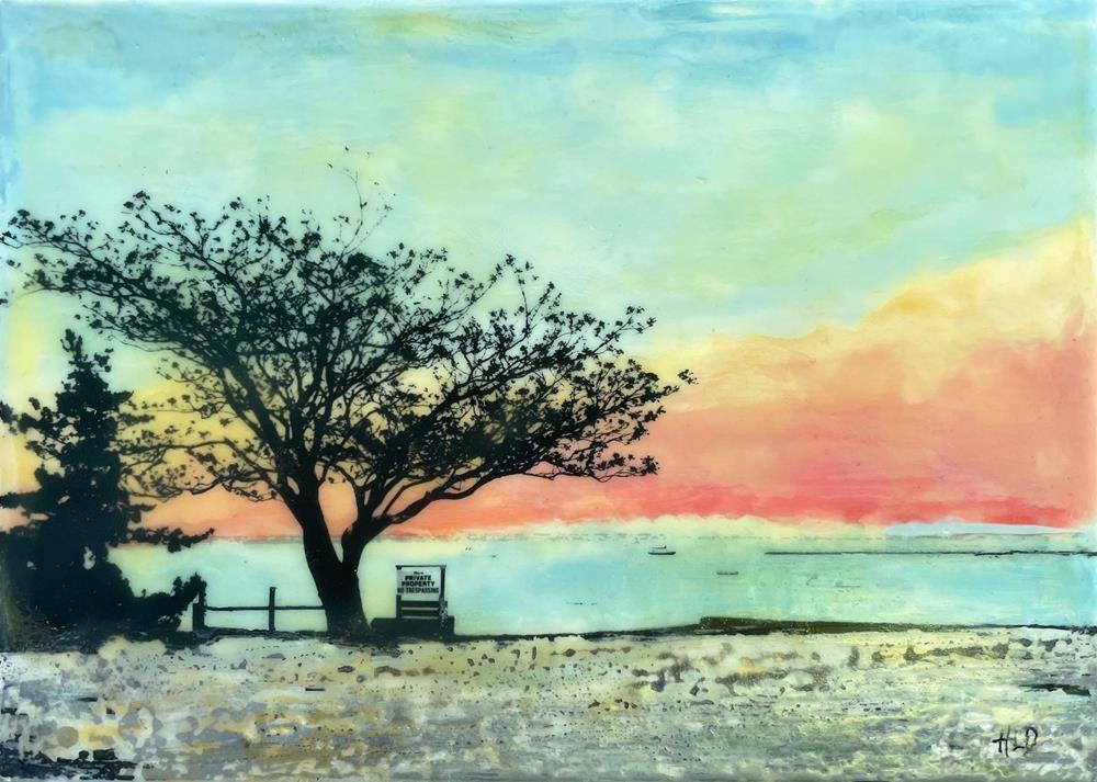 """""""Provincetown Sunrise"""" original fine art by Heather Douglas"""