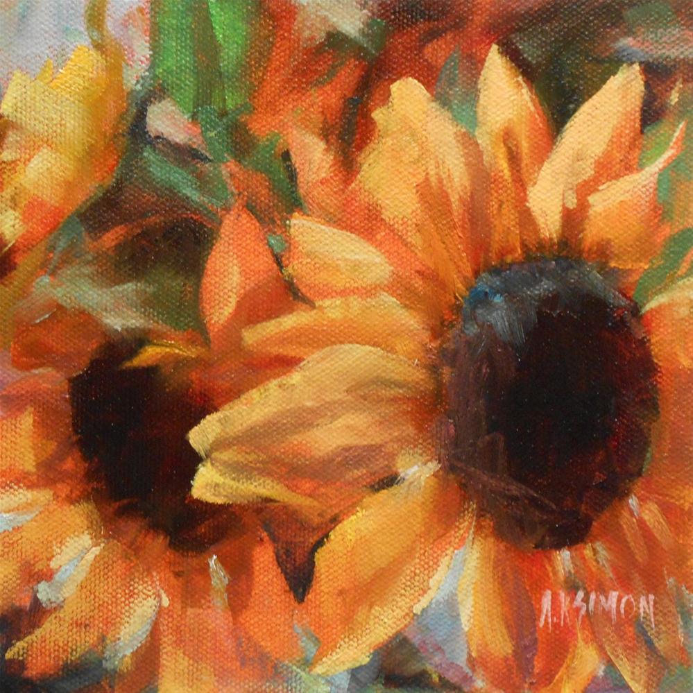 """Basking in the Sun"" original fine art by A.K. Simon"