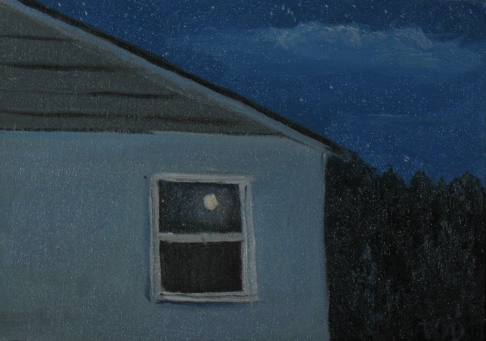 """Moon Reflection"" original fine art by Patrick O'Driscoll"