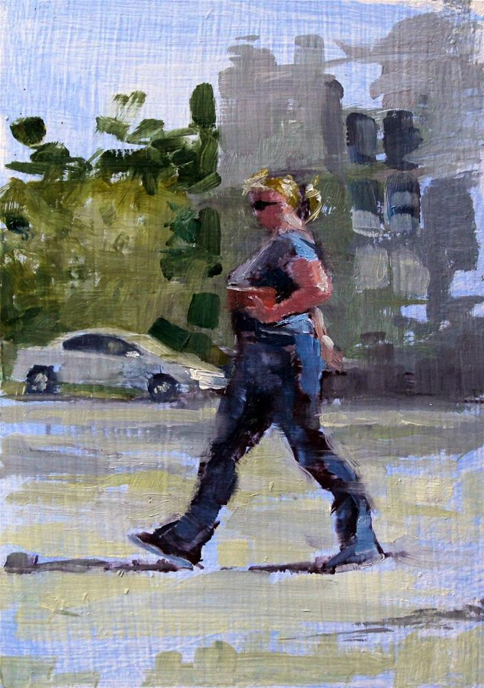 """WALKING PROUD-oil sketch"" original fine art by Ron Ferkol"