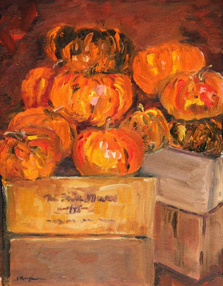 """""""Pumpkin Heaven"""" original fine art by Shelley Koopmann"""
