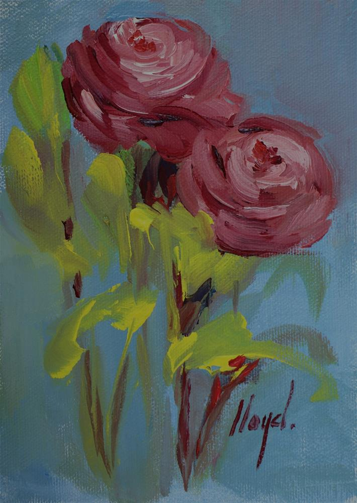 """Ranunculus"" original fine art by Diane Lloyd"