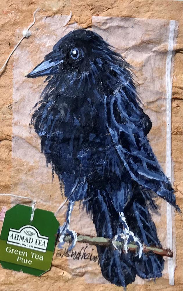 """Young Raven"" original fine art by Linda Blondheim"