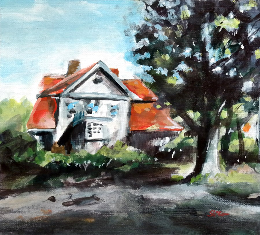 """2843 Hinueber House"" original fine art by Dietmar Stiller"