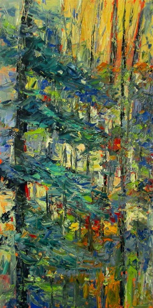"""24 x 12 inch oil"" original fine art by Linda Yurgensen"