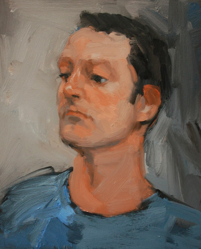 """Man Watching"" original fine art by Kathryn Townsend"