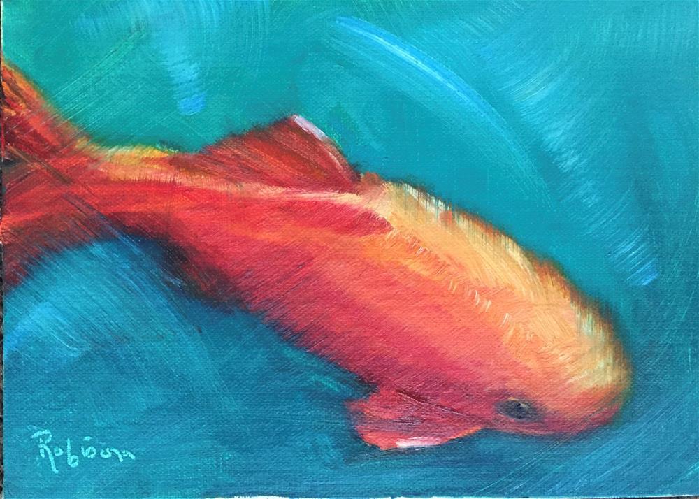 """""""Just Swimming Around"""" original fine art by Renee Robison"""