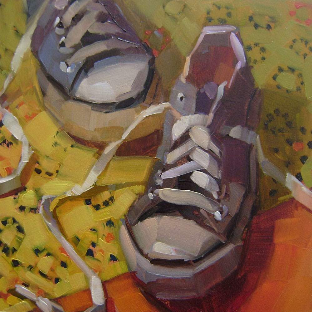 """Grey Chucks"" original fine art by Holly Storlie"