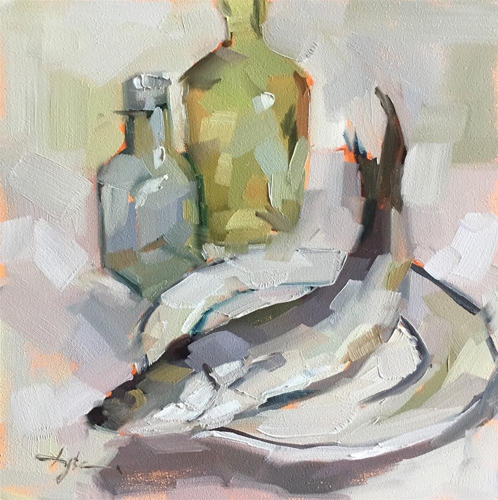 """Herring with Bottles"" original fine art by Katia Kyte"