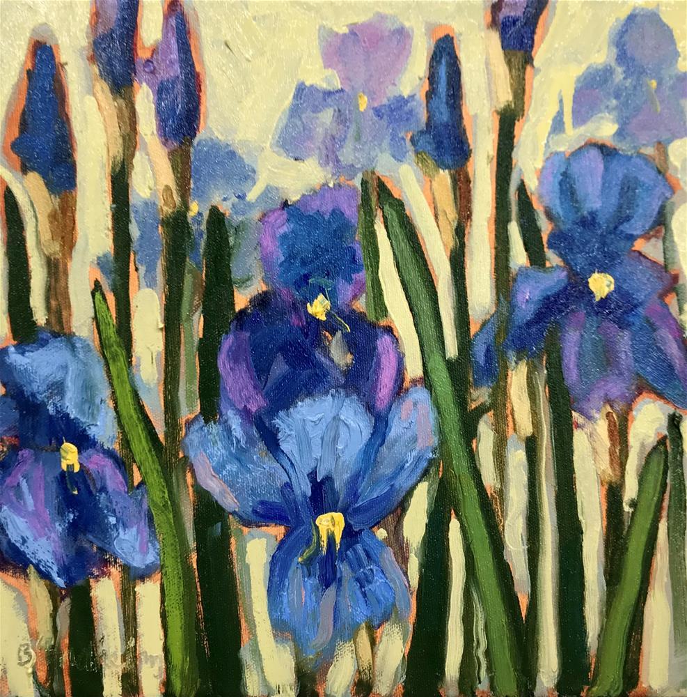 """Iris Study"" original fine art by Linda Blondheim"