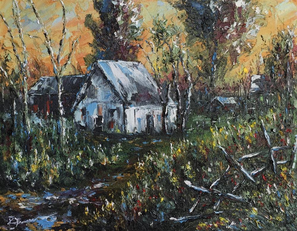 """Country Barn 3"" original fine art by Ken Fraser"