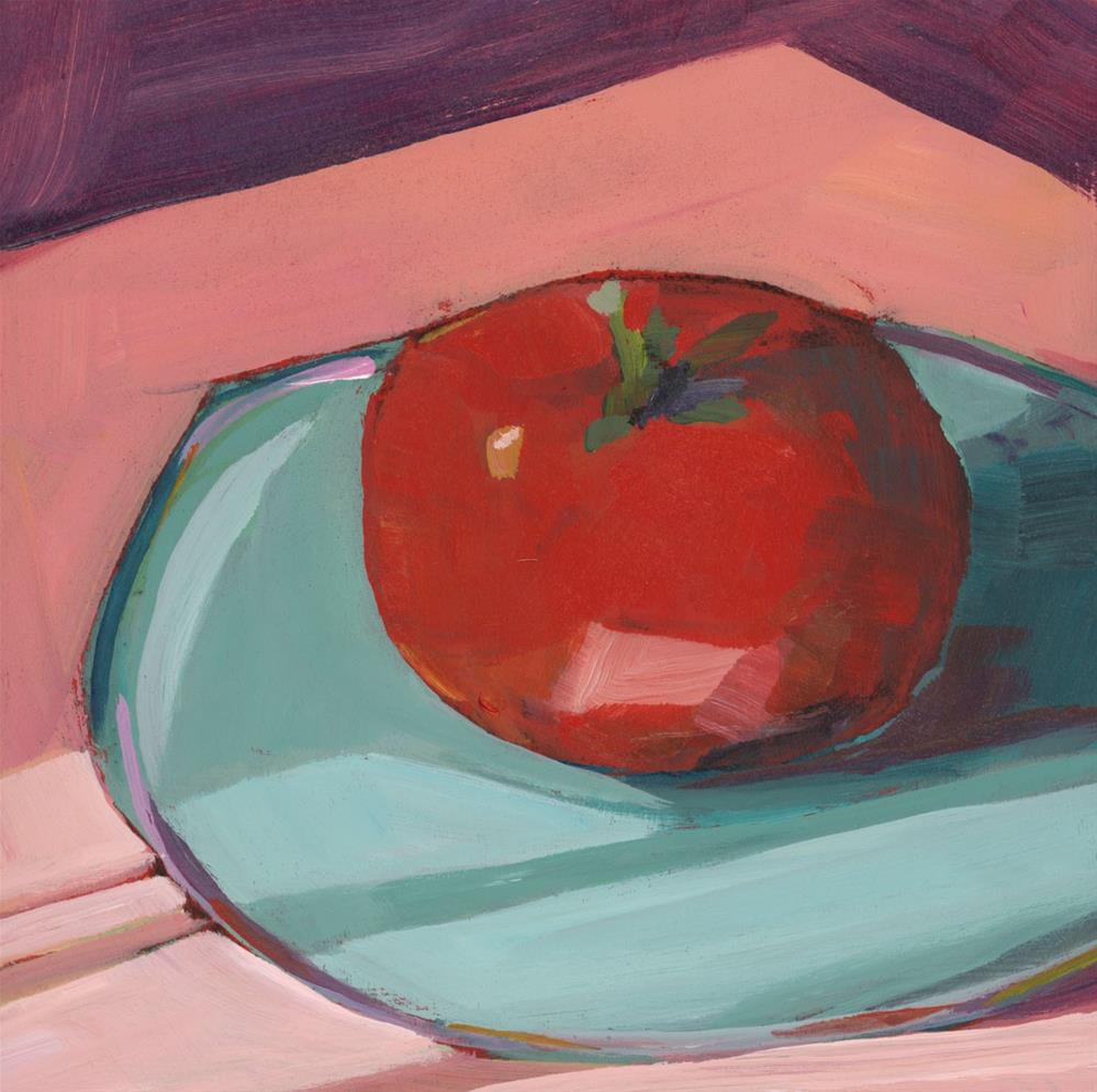 """0889: Early Morning Tomato"" original fine art by Brian Miller"