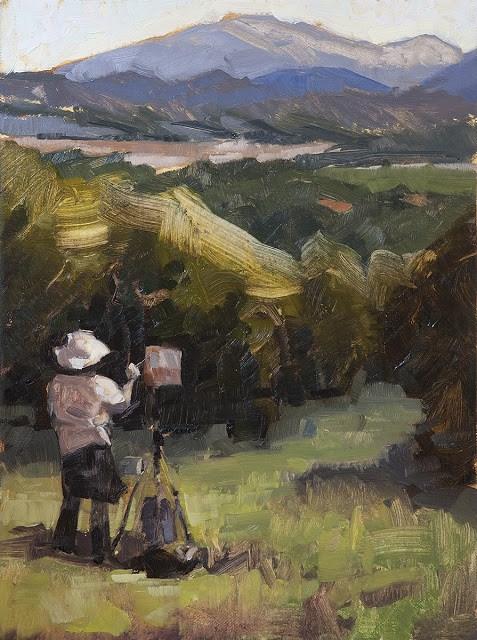 """Happy Birthday to Jane in Provence"" original fine art by Miriam Hill"