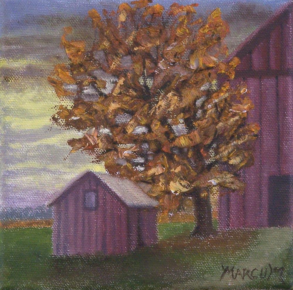 """Country sunset"" original fine art by John Marcum"