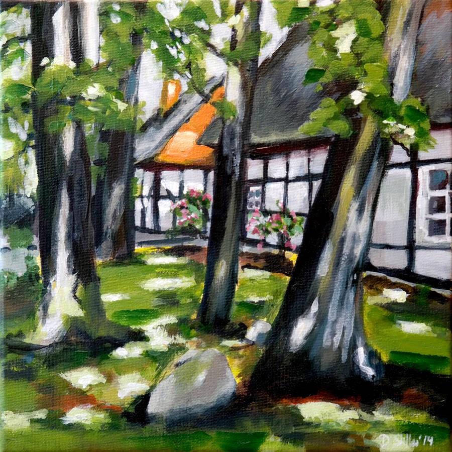 """""""1016 Great Beechwood Farm"""" original fine art by Dietmar Stiller"""